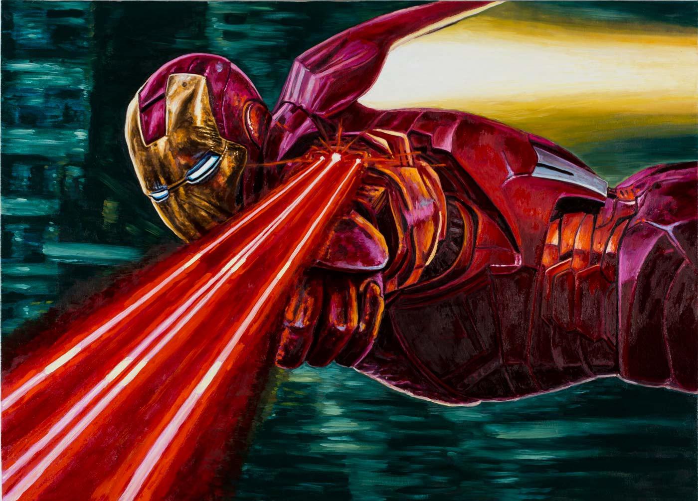 L'Uomo di Ferro in azione per salvare Venezia dalla distruzione dei perfidi Futuristi - Andrea Zucchi