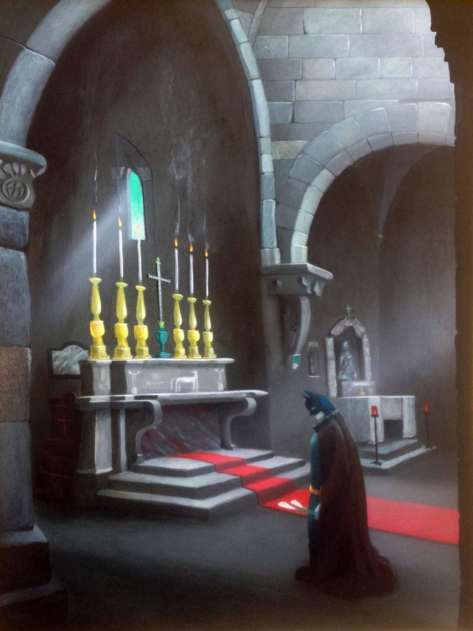 Batman in Preghiera - Gianluca Sbrana