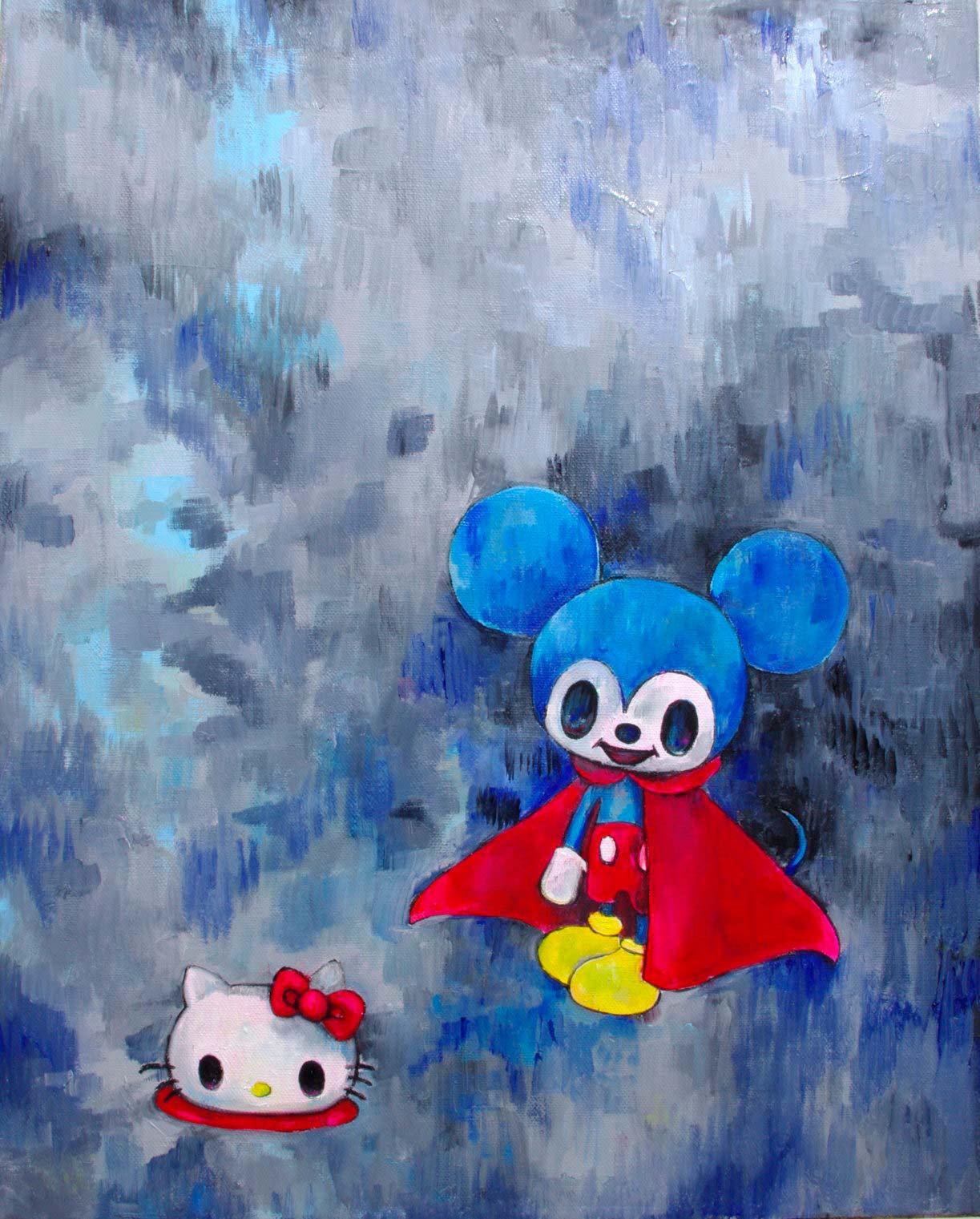 Superman, Mickey and Kitty - Tomoko Nagao